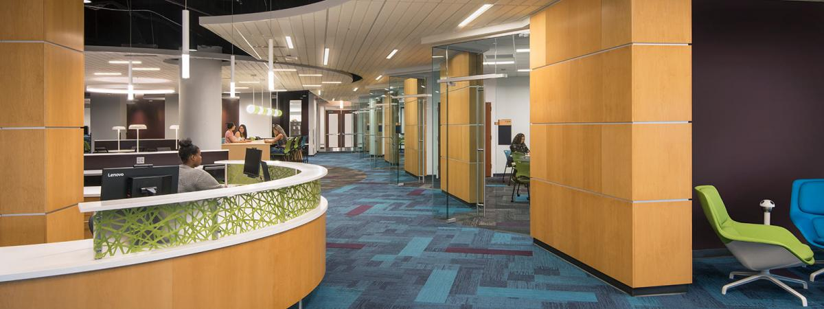 Reception Desk in the Academic Success Center