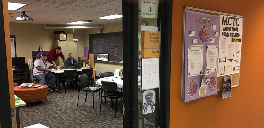View of the Collegiate Recovery Program Office at Minneapolis College