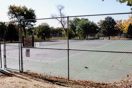 View of Loring Park Tennis Courts