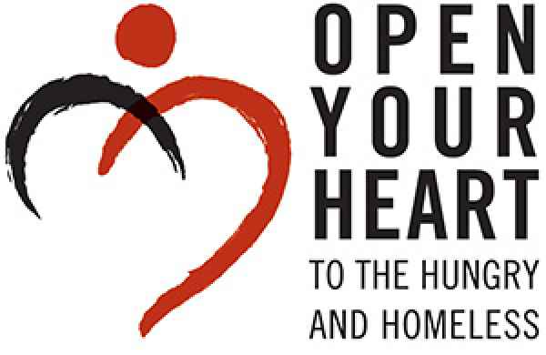 Open Your Heart to the Hungry and Homeless Logo