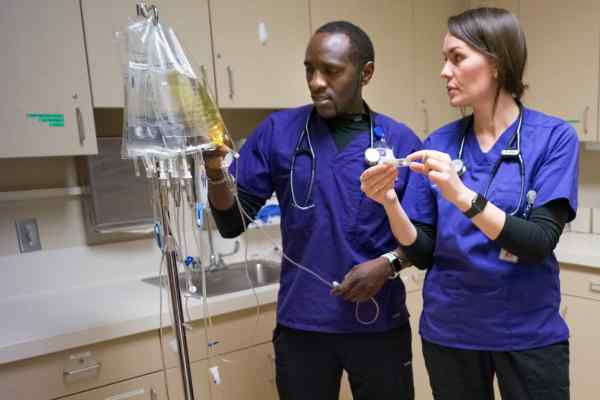 Student with Instructor in the Nursing Program at Minneapolis College