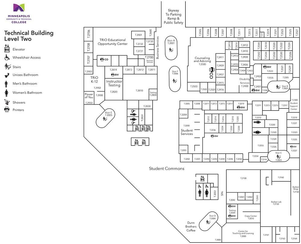 Technical Building Level Two Floor Plans