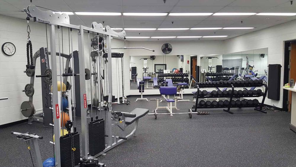 View of Bowman Hall Weight Room
