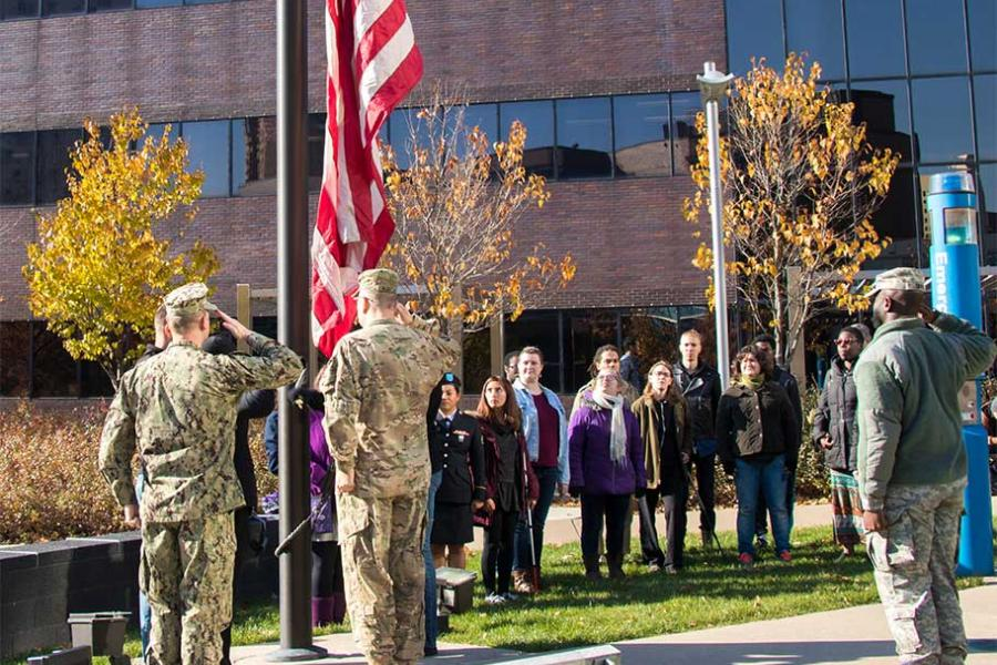 Veterans Day Flag Raising Ceremony 2017